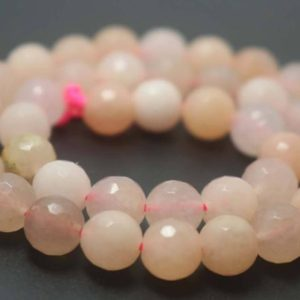 Shop Aventurine Faceted Beads! 128 Faceted Pink Aventurine Round Beads, 6mm / 8mm / 10mm / 12mm Gemstone Beads Supply, 15 Inches One Starand | Natural genuine faceted Aventurine beads for beading and jewelry making.  #jewelry #beads #beadedjewelry #diyjewelry #jewelrymaking #beadstore #beading #affiliate #ad