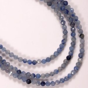 Shop Aventurine Faceted Beads! Natural aventurine loose beads blue beads for jewelry making Gemstone beads for craft supplies faceted 3-4 mm blue beads | Natural genuine faceted Aventurine beads for beading and jewelry making.  #jewelry #beads #beadedjewelry #diyjewelry #jewelrymaking #beadstore #beading #affiliate #ad