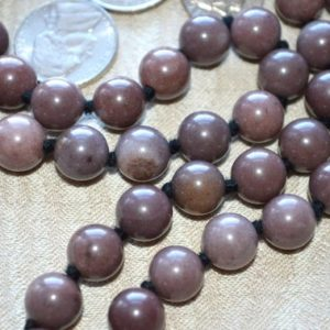 Shop Aventurine Necklaces! Purple Aventurine Hand Knotted Chant Mala Beads Necklace – Blessed Nirvana Meditation 10 Mm 54+1 Prayer Beads For Awakening Chakra Kundalini | Natural genuine Aventurine necklaces. Buy crystal jewelry, handmade handcrafted artisan jewelry for women.  Unique handmade gift ideas. #jewelry #beadednecklaces #beadedjewelry #gift #shopping #handmadejewelry #fashion #style #product #necklaces #affiliate #ad