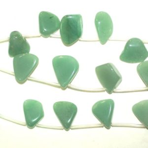 Shop Aventurine Chip & Nugget Beads! Aventurine Nugget Beads Smooth Polished 15x20mm Full or Half Strand | Natural genuine chip Aventurine beads for beading and jewelry making.  #jewelry #beads #beadedjewelry #diyjewelry #jewelrymaking #beadstore #beading #affiliate #ad