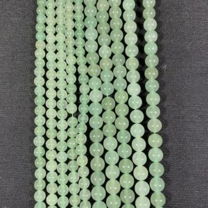Shop Aventurine Beads! Green Aventurine Beads – Polished Aventurine Beads – 15in Strand 6mm 8mm Gemstone Bead – Aventurine Gemstone Bead – High Quality Aventurine | Natural genuine beads Aventurine beads for beading and jewelry making.  #jewelry #beads #beadedjewelry #diyjewelry #jewelrymaking #beadstore #beading #affiliate #ad