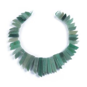 Shop Aventurine Bead Shapes! Green Aventurine Beads,Tower Shape Beads,Popular Natural Green Beads,Good Quality Beads,Top Drilled Beads.Gemstone Beads Wholesale. | Natural genuine other-shape Aventurine beads for beading and jewelry making.  #jewelry #beads #beadedjewelry #diyjewelry #jewelrymaking #beadstore #beading #affiliate #ad