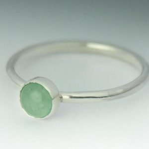 Aventurine Ring, Stackable Sterling Silver Aventurine Ring, Aventurine Simple Ring, Aventurine Jewelry, Stack Ring, Natural Aventurine | Natural genuine Aventurine rings, simple unique handcrafted gemstone rings. #rings #jewelry #shopping #gift #handmade #fashion #style #affiliate #ad