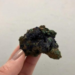 Shop Raw & Rough Azurite Stones! Small Azurite Malachite Specimen | Natural genuine stones & crystals in various shapes & sizes. Buy raw cut, tumbled, or polished gemstones for making jewelry or crystal healing energy vibration raising reiki stones. #crystals #gemstones #crystalhealing #crystalsandgemstones #energyhealing #affiliate #ad