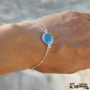 Shop Blue Chalcedony Bracelets! Beaded bracelet with chalcedony stone, Blue stone bracelet with sterling silver chain, bracelet with blue semiprecious stones, blue gemstone | Natural genuine Blue Chalcedony bracelets. Buy crystal jewelry, handmade handcrafted artisan jewelry for women.  Unique handmade gift ideas. #jewelry #beadedbracelets #beadedjewelry #gift #shopping #handmadejewelry #fashion #style #product #bracelets #affiliate #ad