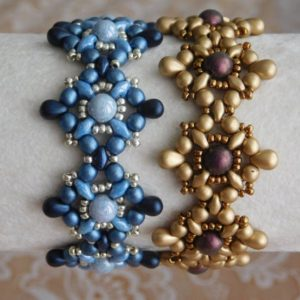 Shop Jewelry Making Tutorials! Beaded Bracelet Tutorial, Beading Pattern, Tarah Bracelet Tutorial, Beadweaving, Superduo, Czech Glass, Seed Beads, Drop beads, PDF | Shop jewelry making and beading supplies, tools & findings for DIY jewelry making and crafts. #jewelrymaking #diyjewelry #jewelrycrafts #jewelrysupplies #beading #affiliate #ad