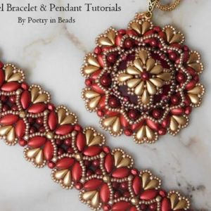 Shop Jewelry Making Tutorials! Beaded Pendant Tutorial, Beading Bracelet Pattern, Arundel Tutorials, Lunasoft Cabochon, Irisduo, Dropduo, Firepolish, Beadweaving, PDF | Shop jewelry making and beading supplies, tools & findings for DIY jewelry making and crafts. #jewelrymaking #diyjewelry #jewelrycrafts #jewelrysupplies #beading #affiliate #ad