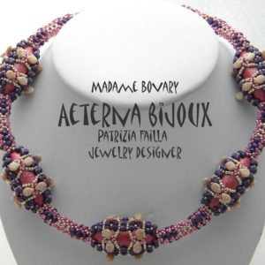 Shop Jewelry Making Tutorials! Beading tutorials and patterns Madame Bovary- beadwork, bead pattern, bead tutorial,  beadweaving tutorials, beadwoven tutorials, beading | Shop jewelry making and beading supplies, tools & findings for DIY jewelry making and crafts. #jewelrymaking #diyjewelry #jewelrycrafts #jewelrysupplies #beading #affiliate #ad