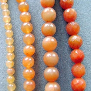 Shop Aventurine Faceted Beads! Beads, Gemstone, Aventurine, Peach, Strand, 8mm, 12MM, Round, 8mm Faceted, Natural, I | Natural genuine faceted Aventurine beads for beading and jewelry making.  #jewelry #beads #beadedjewelry #diyjewelry #jewelrymaking #beadstore #beading #affiliate #ad