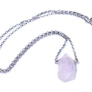 Shop Morganite Necklaces! Beautiful Raw Pink Morganite 18K White Gold Necklace | Natural genuine Morganite necklaces. Buy crystal jewelry, handmade handcrafted artisan jewelry for women.  Unique handmade gift ideas. #jewelry #beadednecklaces #beadedjewelry #gift #shopping #handmadejewelry #fashion #style #product #necklaces #affiliate #ad
