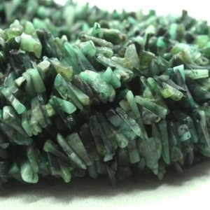 "Shop Emerald Chip & Nugget Beads! Best Quality 16"" Long Natural Emerald Gemstone Uncut Chips Shape Beads Size 10-13 MM Jewelry Making Polished Smooth Beads Wholesale Price 