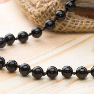 Black tourmaline necklace Mens necklace Beaded jewelry Gemstone necklace Mens gift for boyfriend Stone necklace Black tourmaline jewelry men | Natural genuine Array jewelry. Buy handcrafted artisan men's jewelry, gifts for men.  Unique handmade mens fashion accessories. #jewelry #beadedjewelry #beadedjewelry #shopping #gift #handmadejewelry #jewelry #affiliate #ad