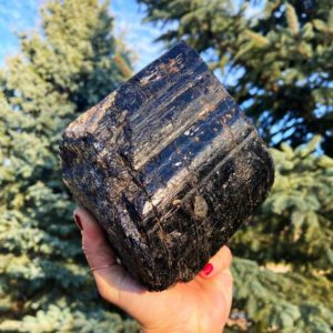 Shop Raw & Rough Black Tourmaline Stones! XL Black Tourmaline Specimen (7.5 lbs) for Energetic Protection & Shielding | Natural genuine stones & crystals in various shapes & sizes. Buy raw cut, tumbled, or polished gemstones for making jewelry or crystal healing energy vibration raising reiki stones. #crystals #gemstones #crystalhealing #crystalsandgemstones #energyhealing #affiliate #ad