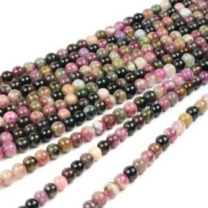 "Shop Black Tourmaline Beads! Tourmaline beads,natural beads,gemstone beads,round stone beads,black tourmaline beads,tourmaline beads 4mm – 16"" Full Strand 