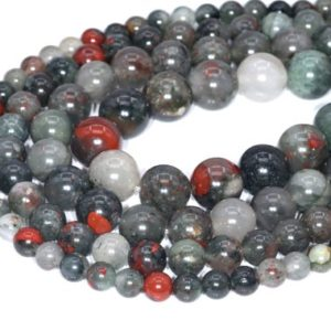 Shop Bloodstone Beads! Blood Stone Beads Grade AAA Genuine Natural Gemstone Round Loose Beads 4MM 6MM 8MM 10MM 12MM Bulk Lot Options | Natural genuine round Bloodstone beads for beading and jewelry making.  #jewelry #beads #beadedjewelry #diyjewelry #jewelrymaking #beadstore #beading #affiliate #ad