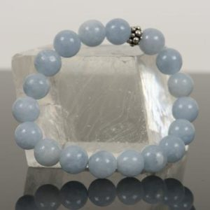 Shop Calcite Bracelets! Blue Calcite Bracelet, Natural Blue Gemstone Bracelet, 10mm Calcite Handmade Gemstone Jewelry, Handmade Gemstone Jewelry | Natural genuine Calcite bracelets. Buy crystal jewelry, handmade handcrafted artisan jewelry for women.  Unique handmade gift ideas. #jewelry #beadedbracelets #beadedjewelry #gift #shopping #handmadejewelry #fashion #style #product #bracelets #affiliate #ad