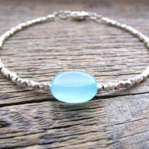 Shop Healing Stone Bracelets! Blue Chalcedony Bracelet, Chalcedony Jewelry, Women's Bracelet, Bead Bracelet, Gemstone Bracelet, Stack Bracelet, Women's Gift, Gift For Mom | Natural genuine Gemstone bracelets. Buy crystal jewelry, handmade handcrafted artisan jewelry for women.  Unique handmade gift ideas. #jewelry #beadedbracelets #beadedjewelry #gift #shopping #handmadejewelry #fashion #style #product #bracelets #affiliate #ad
