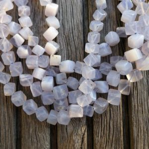 Blue Chalcedony 5-6mm Cube Beads (etb00681) | Natural genuine other-shape Gemstone beads for beading and jewelry making.  #jewelry #beads #beadedjewelry #diyjewelry #jewelrymaking #beadstore #beading #affiliate #ad