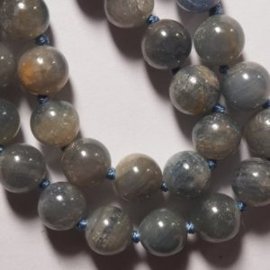 Shop Sapphire Round Beads! Blue Corundum Sapphire ball form plain round sphere bead strand 16 inches S0338 | Natural genuine round Sapphire beads for beading and jewelry making.  #jewelry #beads #beadedjewelry #diyjewelry #jewelrymaking #beadstore #beading #affiliate #ad
