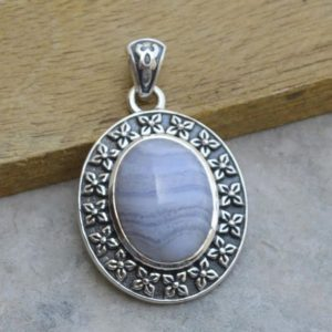 Shop Blue Lace Agate Pendants! Natural Blue lace Agate Pendant,Birthday jewelry,Solid 925 Sterling Silver Blue Pendant,Blue Lace Agate Pendant,Christmas Gift,Gift for her | Natural genuine Blue Lace Agate pendants. Buy crystal jewelry, handmade handcrafted artisan jewelry for women.  Unique handmade gift ideas. #jewelry #beadedpendants #beadedjewelry #gift #shopping #handmadejewelry #fashion #style #product #pendants #affiliate #ad