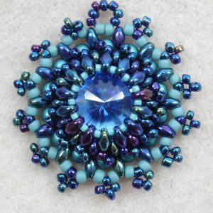 Shop Jewelry Making Tutorials! BLUE LAGOON PENDANT tutorial, beading tutorial, blue pendant pattern, persephone design, pdf tutorial download, instant tutorial download | Shop jewelry making and beading supplies, tools & findings for DIY jewelry making and crafts. #jewelrymaking #diyjewelry #jewelrycrafts #jewelrysupplies #beading #affiliate #ad