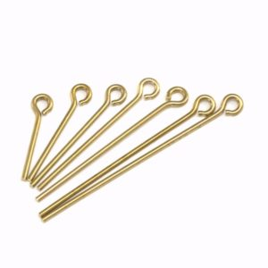 Shop Head Pins & Eye Pins! Brass eye pin 40mm 17 gauge( 1,2mm ) raw brass eyepin 4017R- 46 1871-40 | Shop jewelry making and beading supplies, tools & findings for DIY jewelry making and crafts. #jewelrymaking #diyjewelry #jewelrycrafts #jewelrysupplies #beading #affiliate #ad