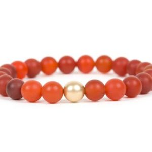 Shop Carnelian Bracelets! Matte Carnelian Bracelet, Red Carnelian Handmade Gemstone Jewelry | Natural genuine Carnelian bracelets. Buy crystal jewelry, handmade handcrafted artisan jewelry for women.  Unique handmade gift ideas. #jewelry #beadedbracelets #beadedjewelry #gift #shopping #handmadejewelry #fashion #style #product #bracelets #affiliate #ad
