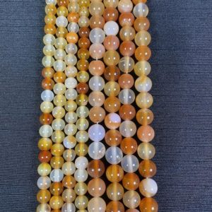 Shop Carnelian Bead Shapes! Carnelian Bead Strand – Polished Carnelian Beads – 15in Strand 6mm 8mm Bead Sizes – Carnelian Gemstone Strand | Natural genuine other-shape Carnelian beads for beading and jewelry making.  #jewelry #beads #beadedjewelry #diyjewelry #jewelrymaking #beadstore #beading #affiliate #ad