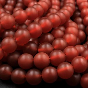 "AAA Matte Natural Carnelian 4mm 6mm 8mm 10mm Round Beads Natural Red Gemstone 15.5"" Strand 