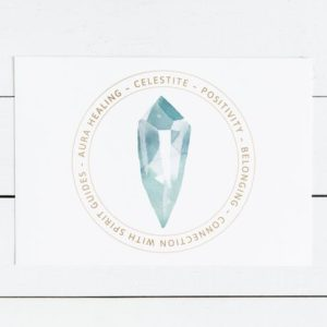 Shop Printable Crystal Cards, Pages, & Posters! Celestite Crystal Card – Jewelry Display Card – Printable Card -Celestite Meaning – Gift Box Insert – Crystal Jewelry Card | Shop jewelry making and beading supplies, tools & findings for DIY jewelry making and crafts. #jewelrymaking #diyjewelry #jewelrycrafts #jewelrysupplies #beading #affiliate #ad
