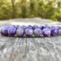 Charoite Bracelet Handmade 8mm Purple Charoite Beaded Gemstone Bracelet Russian Charoite Stack Bracelet Unisex Bracelet Soothing Bracelet | Natural genuine Gemstone jewelry. Buy crystal jewelry, handmade handcrafted artisan jewelry for women.  Unique handmade gift ideas. #jewelry #beadedjewelry #beadedjewelry #gift #shopping #handmadejewelry #fashion #style #product #jewelry #affiliate #ad