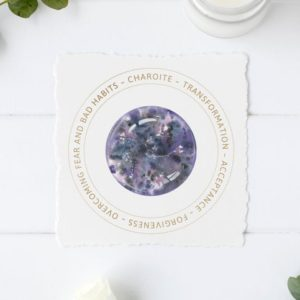 Shop Printable Crystal Cards, Pages, & Posters! Charoite Crystal Card – Jewelry Display Card – Printable File – Crystal Meaning Card – Gift Box Tag – Product Insert | Shop jewelry making and beading supplies, tools & findings for DIY jewelry making and crafts. #jewelrymaking #diyjewelry #jewelrycrafts #jewelrysupplies #beading #affiliate #ad