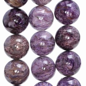 Shop Charoite Round Beads! 18MM  Genuine Charoite Gemstone Grade A Round Loose Beads   (80004114-A175) | Natural genuine round Charoite beads for beading and jewelry making.  #jewelry #beads #beadedjewelry #diyjewelry #jewelrymaking #beadstore #beading #affiliate #ad