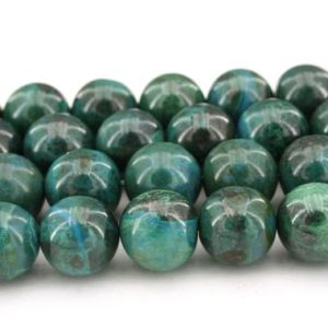 Shop Chrysocolla Round Beads! Chrysocolla round beads 14.5-15mm (ETB01091)   Peruvian/Unique jewelry/Vintage jewelry/Gemstone necklace   Natural genuine round Chrysocolla beads for beading and jewelry making.  #jewelry #beads #beadedjewelry #diyjewelry #jewelrymaking #beadstore #beading #affiliate #ad