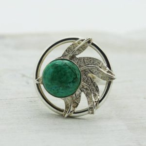 Shop Chrysocolla Rings! Amazing Chrysocolla ring with feathers boho style with natural round chrysocolla ring set on 925 sterling silver real stone quality jewelry | Natural genuine Chrysocolla rings, simple unique handcrafted gemstone rings. #rings #jewelry #shopping #gift #handmade #fashion #style #affiliate #ad