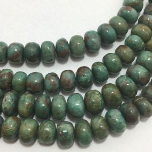 """Shop Chrysocolla Rondelle Beads! 110 Cts Chrysocolla Smooth Rondelle 8 to 9 mm 8""""/Gemstone Beads/Semi Precious Beads/Rare Beads/Quality Beads/Wholesale Beads 