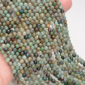 Shop Chrysocolla Round Beads! 4-5MM Genuine Shattuckite Chrysocolla Gemstone Grade A Round Beads 15 inch Full Strand BULK LOT 1,2,6,12 and 50(80009926-A189)   Natural genuine round Chrysocolla beads for beading and jewelry making.  #jewelry #beads #beadedjewelry #diyjewelry #jewelrymaking #beadstore #beading #affiliate #ad
