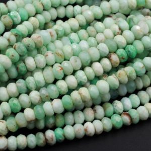 "Shop Chrysoprase Beads! Genuine Natural Australian Green Chrysoprase Faceted Rondelle Beads 6mm 7mm 8mm 9mm 15.5"" Strand 