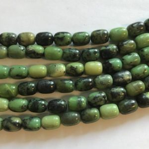 "Shop Chrysoprase Bead Shapes! natural chrysoprase 12x9mm barrel gemstone beads–15.5""–1 strand/3 strands 