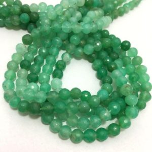 Shop Chrysoprase Round Beads! 3.5 to 4 mm  Chrysoprase Micro Faceted Rondelle Bead Strand Sale / Chrysoprase Gemstone Beads / 4 mm Rondelle Beads Sale / Faceted Bead | Natural genuine round Chrysoprase beads for beading and jewelry making.  #jewelry #beads #beadedjewelry #diyjewelry #jewelrymaking #beadstore #beading #affiliate #ad