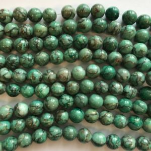 Shop Chrysoprase Round Beads! chrysoprase 12mm round Gemstone Bead –15.5 inch strand 1 strand/3 strands | Natural genuine round Chrysoprase beads for beading and jewelry making.  #jewelry #beads #beadedjewelry #diyjewelry #jewelrymaking #beadstore #beading #affiliate #ad