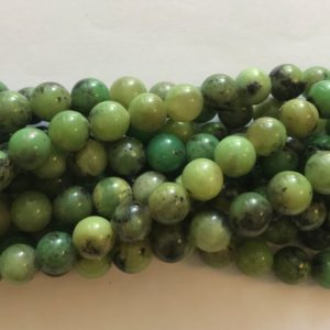 "Shop Chrysoprase Round Beads! chrysoprase 4mm,6mm,8mm,10mm  round gemstone beads–15.5""–1 strand/3 strands 