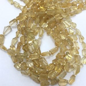 """Shop Citrine Faceted Beads! 65 carat Citrine Faceted Tumble 14""""/Gemstone Beads/Semi Precious Beads/Citrine Beads/Faceted Beads/Yellow Beads 