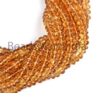 Shop Citrine Faceted Beads! Natural Citrine Faceted Rondelle Beads, Citrine Beads,Faceted Citrine Beads, Citrine Rondelle(4.50-6.50 MM) Beads, Natural Citrine Beads | Natural genuine faceted Citrine beads for beading and jewelry making.  #jewelry #beads #beadedjewelry #diyjewelry #jewelrymaking #beadstore #beading #affiliate #ad