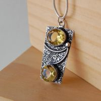 Citrine Necklace, Citrine Pendant, Artisan Jewelry, Crystal Pendants, Crystal Jewelry, The Stone Of Success, Gifts For Business Women, Gold | Natural genuine Gemstone jewelry. Buy crystal jewelry, handmade handcrafted artisan jewelry for women.  Unique handmade gift ideas. #jewelry #beadedjewelry #beadedjewelry #gift #shopping #handmadejewelry #fashion #style #product #jewelry #affiliate #ad