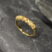 Gold Citrine Ring, Natural Citrine, Stackable Band, November Birthstone, Gold Plated Ring, Dainty Yellow Band, Stackable Ring, Vermeil Ring | Natural genuine Gemstone jewelry. Buy crystal jewelry, handmade handcrafted artisan jewelry for women.  Unique handmade gift ideas. #jewelry #beadedjewelry #beadedjewelry #gift #shopping #handmadejewelry #fashion #style #product #jewelry #affiliate #ad