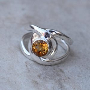 Shop Citrine Engagement Rings! Natural Citrine Ring,Citrine Ring,November birthstone,Solid 925 Stering Silver Ring,Handmade Jewelry,Gift Ring for her,Christmas Gift ring | Natural genuine Citrine rings, simple unique handcrafted gemstone rings. #rings #jewelry #shopping #gift #handmade #fashion #style #affiliate #ad
