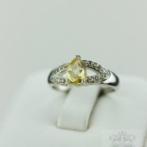 Shop Citrine Engagement Rings! Size 5.5 CITRINE PEAR SHAPE 925 Fine Sterling Silver Ring R619 | Natural genuine Citrine rings, simple unique handcrafted gemstone rings. #rings #jewelry #shopping #gift #handmade #fashion #style #affiliate #ad