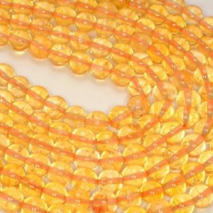 Shop Citrine Round Beads! 6mm Citrine Quartz Gemstone Yellow Grade AA Round Loose Beads 15.5 inch Full Strand (90191303-B16-527) | Natural genuine round Citrine beads for beading and jewelry making.  #jewelry #beads #beadedjewelry #diyjewelry #jewelrymaking #beadstore #beading #affiliate #ad