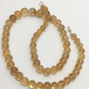 Shop Citrine Round Beads! Natural Citrine AA Quality Smooth Round Beads, 7mm to 10mm, 18 inches, Yellow Beads, Gemstone Beads, Semiprecious Beads | Natural genuine round Citrine beads for beading and jewelry making.  #jewelry #beads #beadedjewelry #diyjewelry #jewelrymaking #beadstore #beading #affiliate #ad